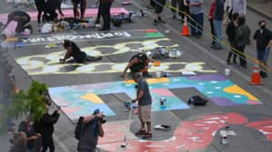 Street Artists Create Incredible Black Lives Matter Mural In Seattle