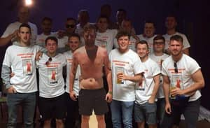 Lad Can't Make His Own Stag Do So His Mates Take Cardboard Cut Out Of Groom Instead