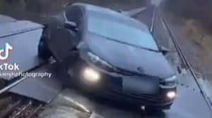 Police Investigating 'Staggeringly Stupid' TikTok Video Of Car On Railway Tracks