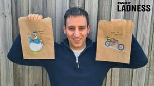 Man Creates Thousands Of 'Dad Jokes' By Drawing On Three Daughters' Lunch Bags Each Morning