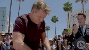 Gordon Ramsay Smashes World Record On 'The F Word'