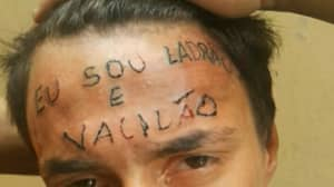 Man With 'I'm A Thief' Tattooed On His Head Arrested For Stealing