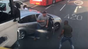 Lorry Driver Versus Car Owner In Road Rage Brawl As Commuters Watch On