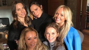 What The Suspicious White Line In The Spice Girls Reunion Pic Actually Was