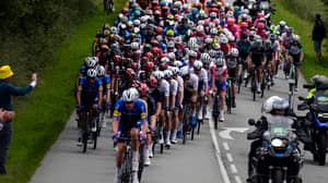 Fan Causes Huge Pile-Up In One Of Worst Tour De France Crashes Ever Seen