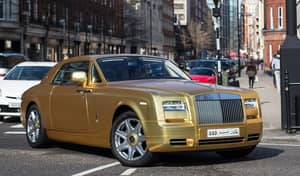 Britain's 'Flashiest Tourist' Drives Gold Plated Cars Around London