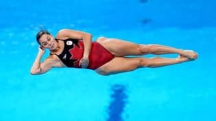 Canadian Diver Pamela Ware Scores Zero After Landing Feet First At Olympics
