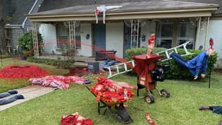 Man Whose Halloween Decorations Prompted Police Visits Is At It Again