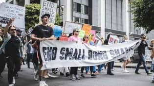 Hundreds Of People Attend 'Small Dong March' In Los Angeles