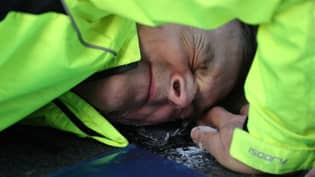 Insulate Britain Protester Glues Head To Road During Demonstration