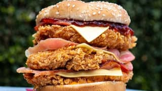 KFC Australia Launches Largest Burger Ever With Triple Stacker