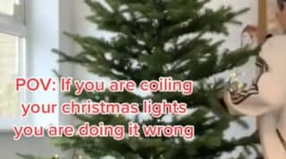 Woman Shares Hack Showing The 'Right' Way To Put Lights On Christmas Tree