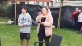 Heartbreaking Moment Boy, 14, Sings Through Hospice Window To His Dying Mother