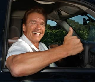 Arnold Schwarzenegger Gets Attacked By An Elephant Whilst On Safari