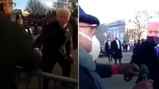 Joe Biden Greets Journalist In Same Spot Eight Years On