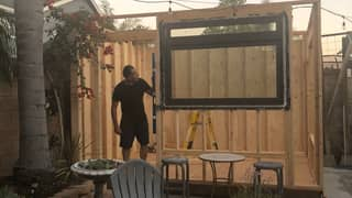 Dad Builds Backyard Coffee Shop Called 'From The Ground Up'