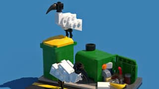 Legendary Aussie Gives Instructions On How To Create Bin Chicken Scene With LEGO
