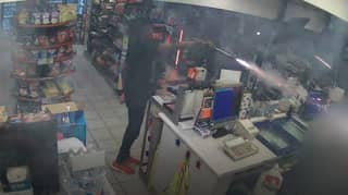 Man Shoots Fireworks At Petrol Station Worker As Accomplice Films Assault