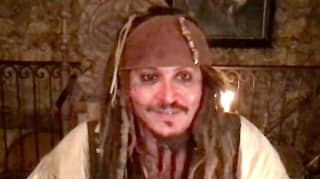 Johnny Depp Pays Virtual Visit To Children's Hospital As Captain Jack Sparrow