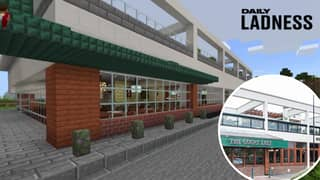 Lad Recreates His Local Wetherspoon On Minecraft