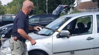 Man Saves Dog Left In Car In 34C Heatwave By Smashing Window With Axe