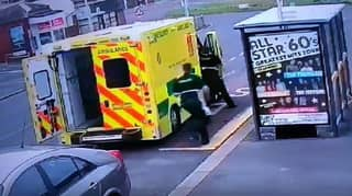 ​Man Tries To Steal Ambulance As Paramedics Are Treating Patient Inside