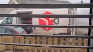 DPD Driver 'Launches' Parcels From One Van To Another