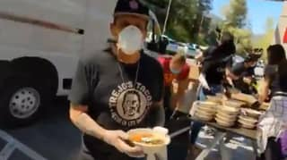Danny Trejo Has Been Handing Out Food To Health Workers