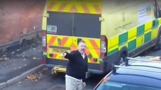 Shocking Footage Shows Paramedic Verbally Abused By Driver For Parking Ambulance In Street
