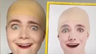 Woman Spots 'Doppelgänger' On Bald Cap Packaging