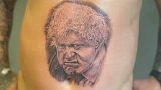 Man Gets Huge Boris Johnson Tattoo To Raise Money For Young Woman Fighting Cancer