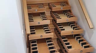 Builder Transforms Staircase Into Wine Cellar That Can Hold 156 Bottles