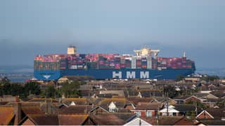 World's Largest Container Ship Arrives In The UK For The First Time