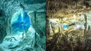 Scuba Diver Takes Breathtaking Photos Of Underwater Caves Worshipped By The Mayans