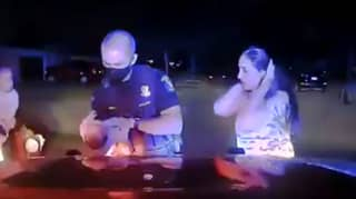 Heartstopping Moment Cop Saves Three-Week-Old Baby From Choking
