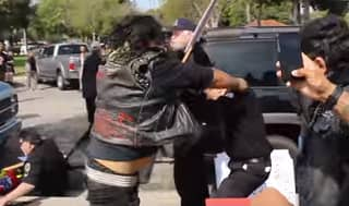 A Ridiculously Violent Brawl Broke Out Between KKK Members And Counter-Protesters, Leaving One In Critical Condition