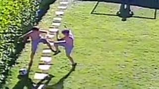 Garden Kickabout Ends In Chaos As Brothers Start Scrapping