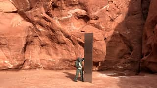 People Think Dead Artist Is Responsible For Monolith In Desert
