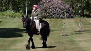 Queen Pictured Riding Pony In First Public Appearance Since Lockdown Began