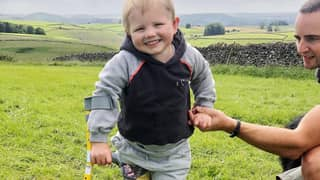 Four-Year-Old Boy Walks For First Time On Prosthetic Legs After Contracting Sepsis