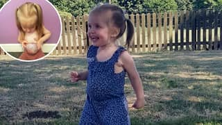 Toddler Was Born With Her Stomach, Liver And Bowel Outside Her Body