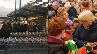 Shoppers Queue Outside Aldi From 6.30am To Get Hands On Giant Kevin Carrot Toy
