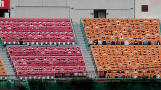 South Korean Baseball League Reopens In Front Of Fake Crowd