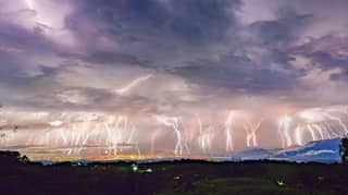 Lightning Illuminates The Sky During Storm Dubbed 'The Night Of A Thousand Forks'