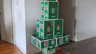 Man Creates Ridiculously Aussie Christmas Tree Out Of Cases of VB