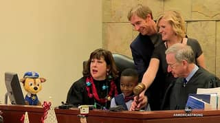Five-Year-Old Boy Invites His Entire Class To See Him Getting Adopted