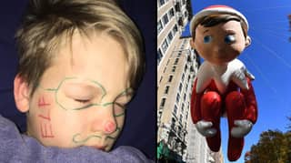 Mum's Elf On The Shelf Prank Backfires When Ink Won't Come Off Son's Face