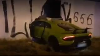 Man Smashes Lamborghini Into Wall After Borrowing It From Friend