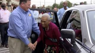 Woman Celebrates 100th Birthday At Supermarket Where She Works 20 Hours A Week