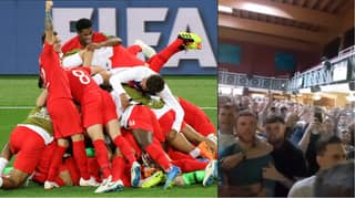 People Think England Fan Disappeared While Celebrating Colombia Win